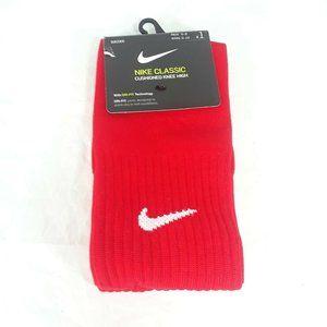Nike Dri Fit Soccer Cushioned Knee High Socks Red
